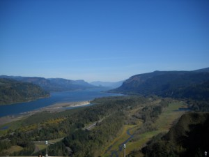 View of the Columbia from the Crown Point Vista House