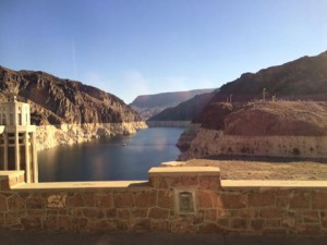 Hoover Dam/Lake Mead--the water line