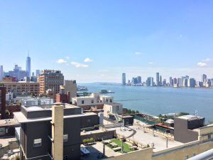 view of Hudson River & NJ from the Whitney