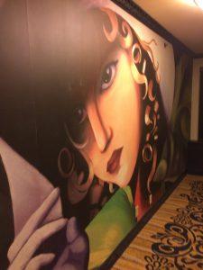the mural on my floor